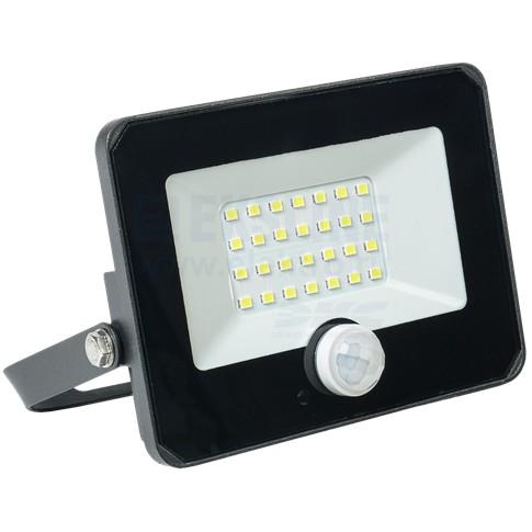 Прожектор светодиодный (LED) СДО 06-20Д 20Вт 6500K IP54 с датчиком движения IEK