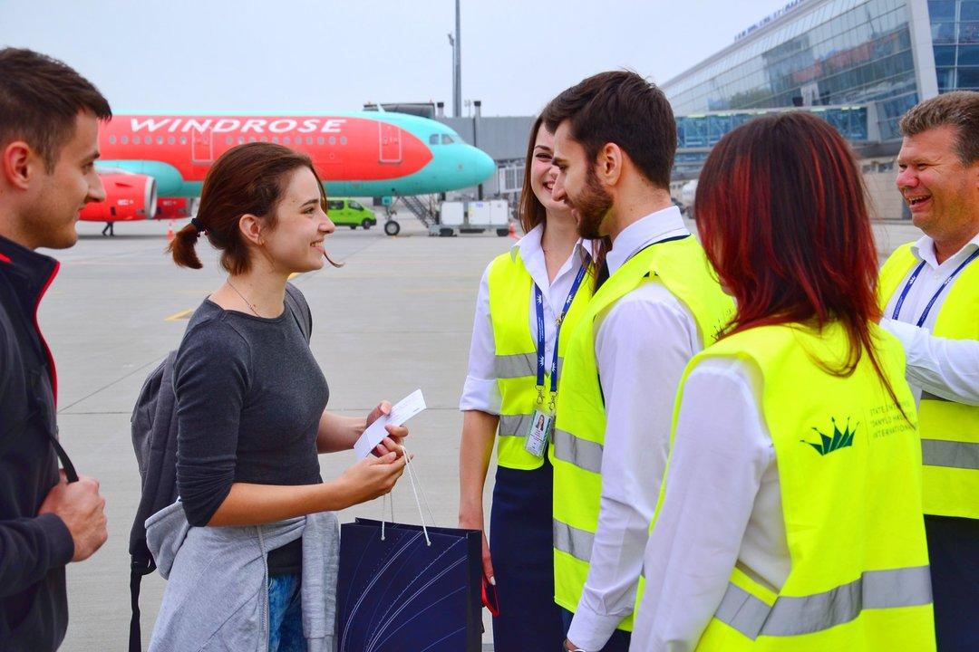 """Аэропорт """"Львов"""" принял миллионного пассажира в 2018 году"""