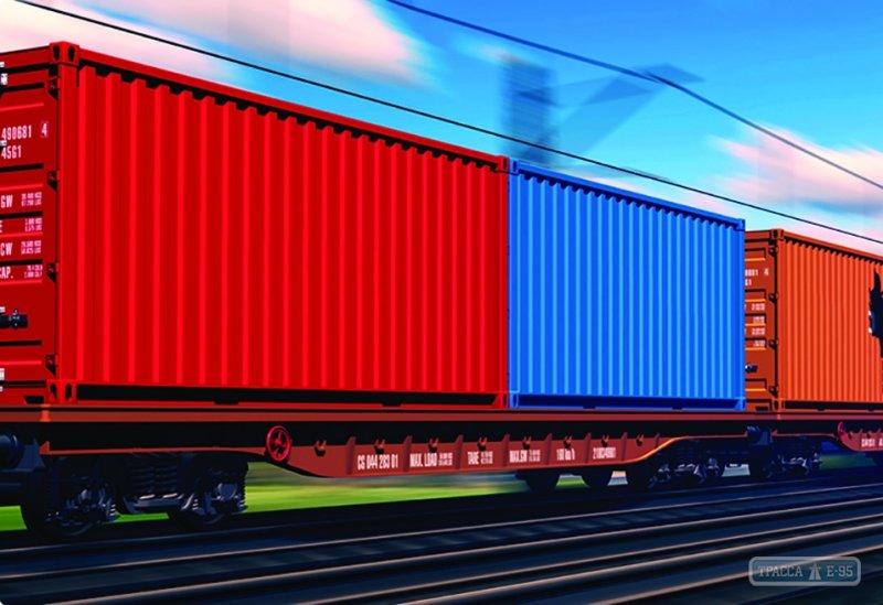Укрзалізниця запустила экспериментальный контейнерный поезд