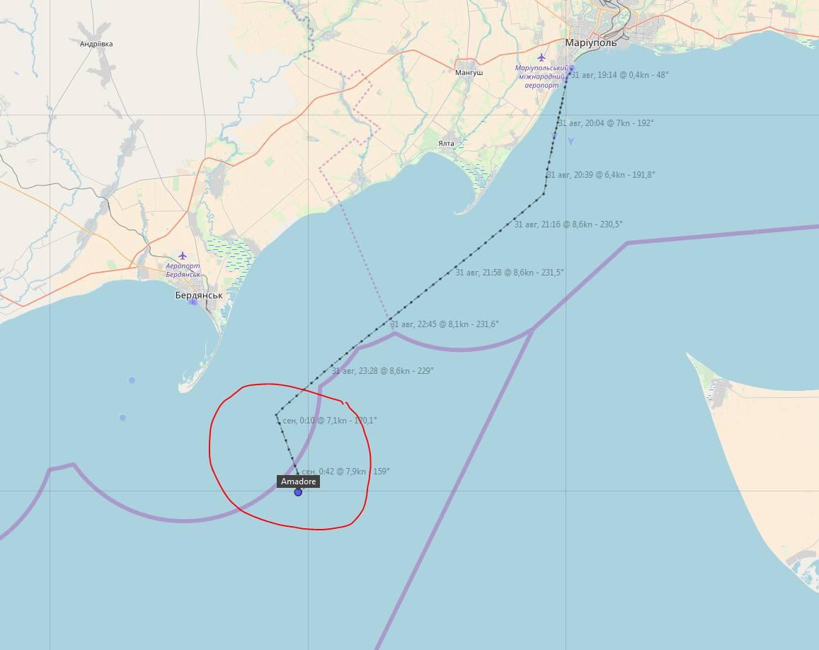 Береговая охрана России задержала украинское судно в Азовском море