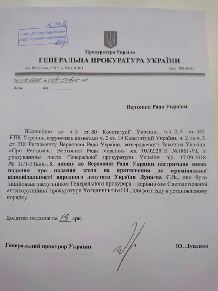 Луценко снова подал представления на Вилкула, Колесникова и Дунаева