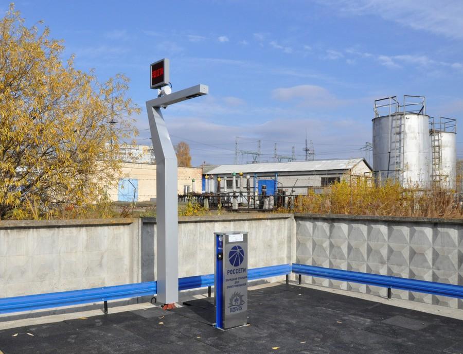 В Ульяновской области появилась первая зарядная станция для электромобилей