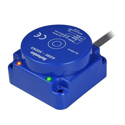 Индуктивные датчики приближения Autonics  серии AS сработают на расстоянии 50 мм