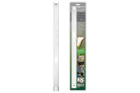Светильник LED500х30 линейный, 8 Вт, 230 В, датчик движения, диммер, 4000К, TDM