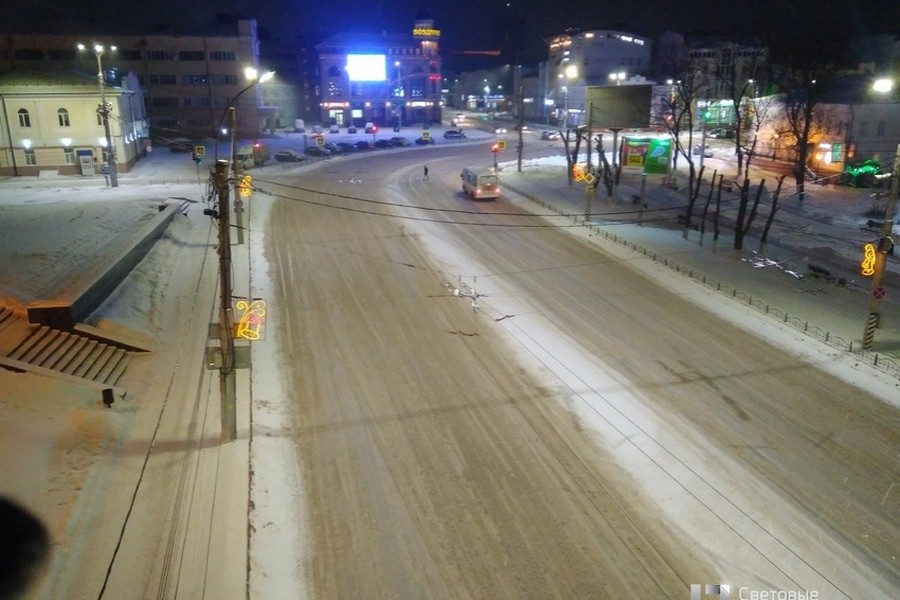В городе Иваново полностью модернизировано уличное освещение