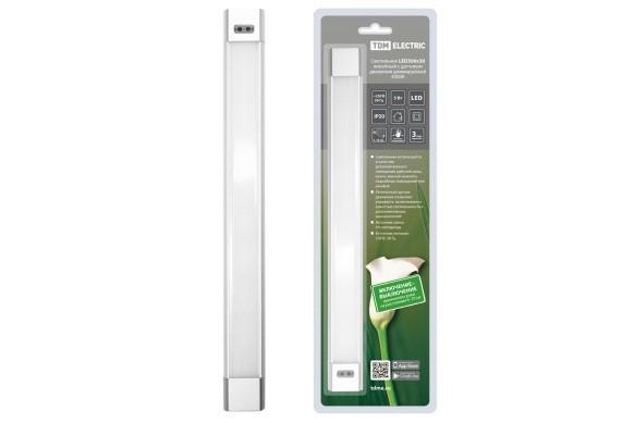 Светильник LED300х30 линейный, 5 Вт, 230 В, датчик движения, диммер, 4000К, TDM